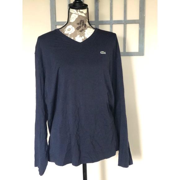 ec1e8bee NWOT LACOSTE Pima long sleeve T-shirt